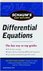 DIFFERENTIAL EQUATIONS: Schaum's Easy Outlines