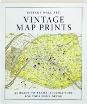 VINTAGE MAP PRINTS: Instant Wall Art