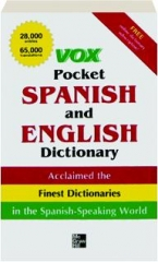 VOX POCKET SPANISH AND ENGLISH DICTIONARY