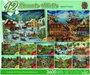 12 BONNIE WHITE JIGSAW PUZZLES