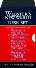 WEBSTER'S NEW WORLD DESK SET
