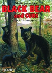 NORTH AMERICAN BLACK BEAR AND CUBS: All Plastic Assembly Kit