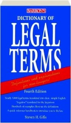DICTIONARY OF LEGAL TERMS, FOURTH EDITION