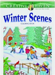 WINTER SCENES COLORING BOOK