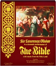 SIR LAURENCE OLIVIER IN A DRAMATIC PERFORMANCE OF THE BIBLE
