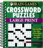 BRAIN GAMES CROSSWORD PUZZLES LARGE PRINT