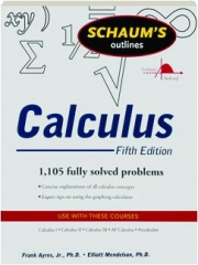 CALCULUS, FIFTH EDITION: Schaum's Outlines