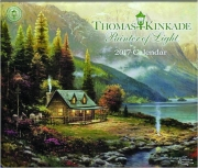 2017 THOMAS KINKADE PAINTER OF LIGHT CALENDAR