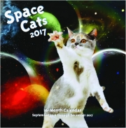 2017 SPACE CATS 16-MONTH CALENDAR
