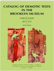 CATALOG OF DEMOTIC TEXTS IN THE BROOKLYN MUSEUM