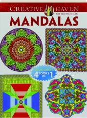 CREATIVE HAVEN MANDALAS: Deluxe Edition 4 Books in 1