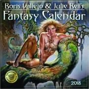 2018 BORIS VALLEJO & JULIE BELL'S FANTASY CALENDAR