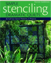 SIMPLE STENCILING: Dramatic Quilts