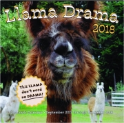 2018 LLAMA DRAMA 16-MONTH CALENDAR