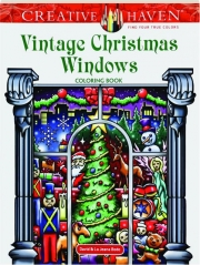 VINTAGE CHRISTMAS WINDOWS COLORING BOOK