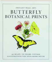 INSTANT WALL ART: Butterfly Botanical Prints