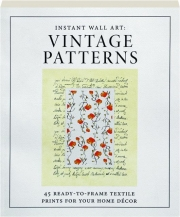 VINTAGE PATTERNS: Instant Wall Art