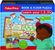 LEARN YOUR 1, 2, 3'S: Fisher-Price Book & Floor Puzzle