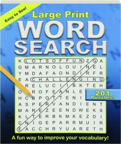 LARGE PRINT WORD SEARCH: 201 Puzzles!