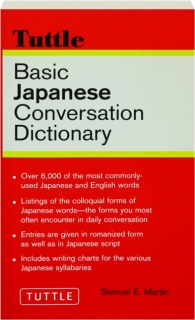 BASIC JAPANESE CONVERSATION DICTIONARY, REVISED