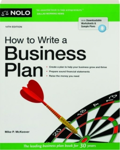 HOW TO WRITE A BUSINESS PLAN, 14TH EDITION