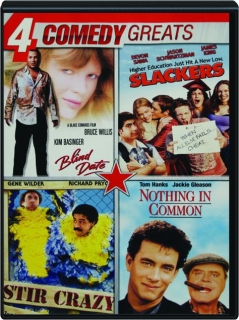 4 COMEDY GREATS: Blind Date / Slackers / Stir Crazy / Nothing in Common