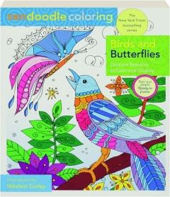 BIRDS AND BUTTERFLIES: Zendoodle Coloring