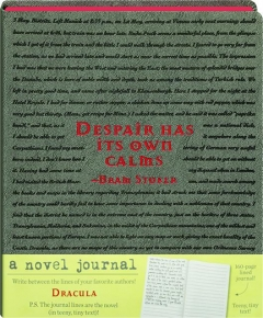 A NOVEL JOURNAL: Dracula