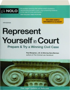 REPRESENT YOURSELF IN COURT, 10TH EDITION
