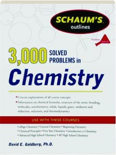 3,000 SOLVED PROBLEMS IN CHEMISTRY: Schaum's Outlines