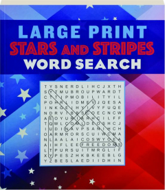 LARGE PRINT STARS AND STRIPES WORD SEARCH