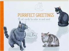 PURRFECT GREETINGS: 18 Cat Cards to Color in and Send