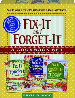 FIX-IT AND FORGET-IT 3 COOKBOOK SET