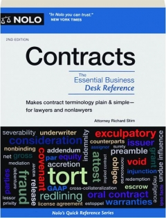CONTRACTS, 2ND EDITION: The Essential Business Desk Reference