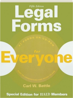 LEGAL FORMS FOR EVERYONE, FIFTH EDITION