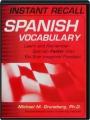 INSTANT RECALL SPANISH VOCABULARY - Thumb 1