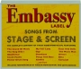 THE EMBASSY LABEL: Songs from Stage & Screen - Thumb 1