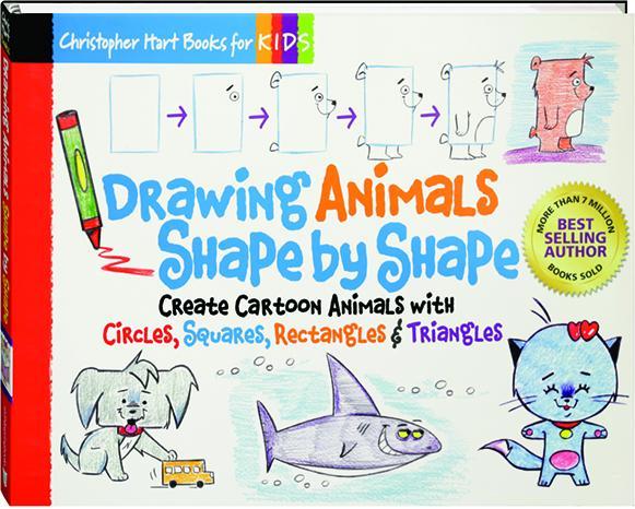 Drawing Animals Shape By Shape Create Cartoon Animals