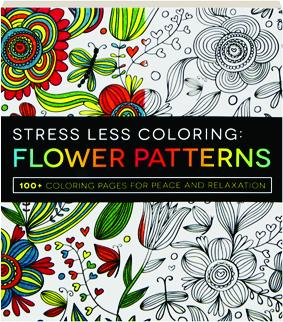 stress less coloringflower patterns 100 coloring pages