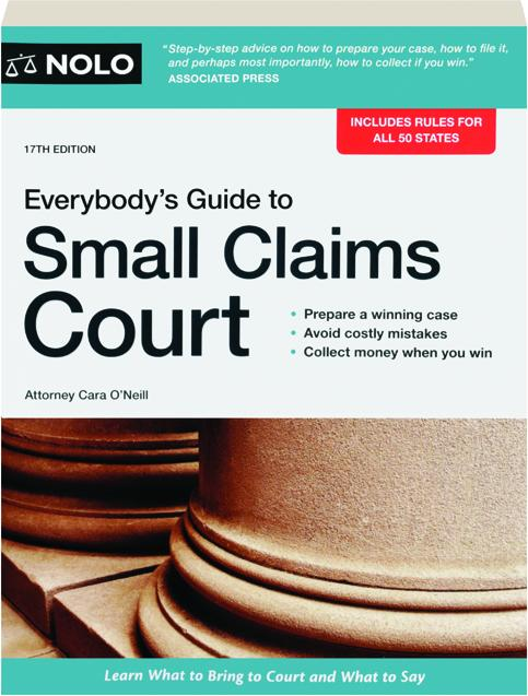 Everybodys Guide To Small Claims Court 17th Edition Hamiltonbook